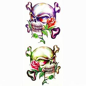 1pc Other Skull Waterproof Tattoo Sample Mold Temporary Tattoos Sticker for Body Art(18.5cm8.5cm) 2126076