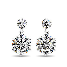 Women's Stud Earrings - Sterling Silver, Imitation Diamond Fashion Screen Color For Daily