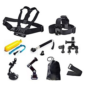 Gopro Accessories 9 in 1 Kit Chest Head StrapFloating Grip Handlebar Seatpost  Monopod Suction Cup For GoPro 2164711