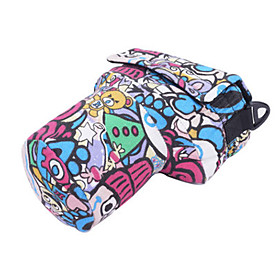 Siyoone A1-S Colorful Cartoon PU Leather Camera Bag For Canon700D 600D 650D /Nikon D7000D98