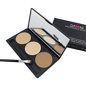 3 Color 5in1 Professional Concealer/Foundation/Blusher/Bronzer Makeup Cosmetic Palette with MirrorBrush Set 1746695