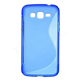 S Shape Soft TPU Case for Samsung Galaxy Grand 2 Duos G7102 G7100 G710S G7106(Assorted Colors)