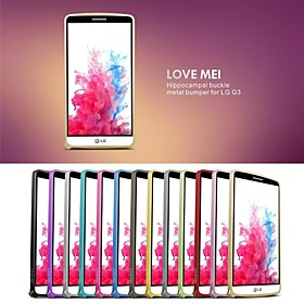 Love Mei Ultrathin Alloy Bumper Curved Edge Metal Case Cover for LG G3(Assorted Colors) 2165202