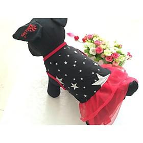 schöne Baumwolle sternchen Hochzeitskleid für Hunde 2207879