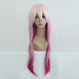 Cosplay Wigs Guilty Crown Inori Yuzuriha Pink Medium Anime Cosplay Wigs 65 CM Heat Resistant Fiber Female 363494
