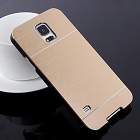 2 in 1 Metal Brushed Hard Case for Samsung Galaxy S5 I9600 (Assorted Colors)