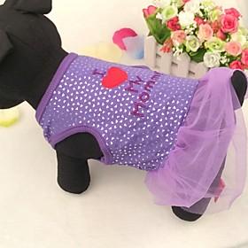 schöne Baumwoll i love my mom Muster Hochzeitskleid für Hunde sortierte Größe 2207877