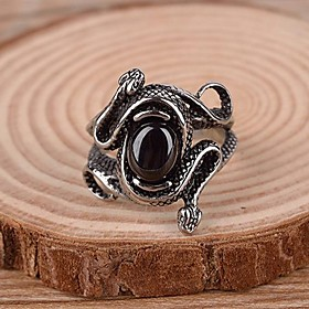 Men's Statement Ring Ring Snake Statement Vintage Casual European Ring Jewelry For