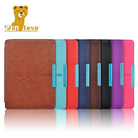 Shy Bear(tm) Crazy Horse Leather Cover Case for Amazon Kindle Paperwhite 6 Inch Ebook