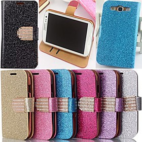 Glitter Powder Style PU Leather Full Body with Stand and Card Slot for Samsung Galaxy S3 I9300 2275618
