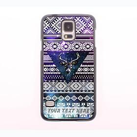 personalisierte Telefonkasten - das Reh im Dreieck-Design-Metallgehäuse für Samsung Galaxy S5 i9600