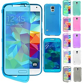 DF Flip Clear Soft Thin TPU Silicone Full Body Case for Samsung Galaxy Note 4 (Assorted Colors)