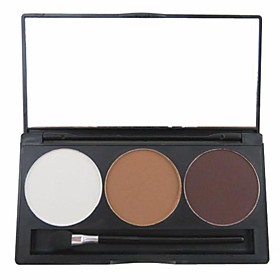 3 Color 3in1 Matte Professional Eyebrow Powder/Eye Shadow/Bronzer Makeup Cosmetic Palette with MirrorApplicator Set 2232765