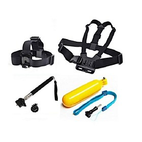 Gopro Accessories 4 in 1 Chest Strap  Head StrapFloating Handle Grip Monopod For GoPro Hero 1 2 3 3Camera 2333092