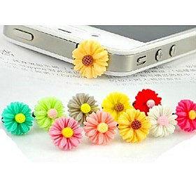 krysantemum gennemsigtig bund anti-støv øretelefon stik til iPhone / iPad og andre (tilfældig farve) 2478310