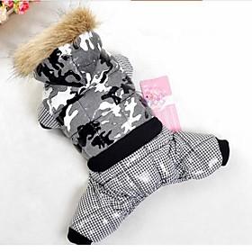 Dog Coat / Hoodie / Sweatshirt Red / Black / Blue / Pink / Purple / Orange Dog Clothes Winter Sport Waterproof / Fashion / Keep Warm 2230140