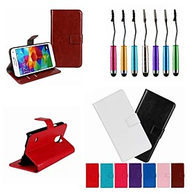 Crazy Horse Leather Wallet Flip Case with Card Holder And Stand Function for Samsung S5 I9600 (Assorted Colors)