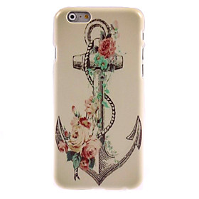 ancoraggio retrò e caso duro di disegno del fiore per il iPhone 6 Plus 1978622