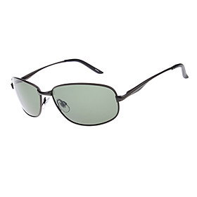 Polarized Rectangle Metal Classic Sunglasses
