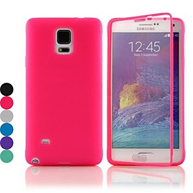 DF Flip S-View TPU Silicone Full Body Case for Samsung Galaxy Note 4 (Assorted Colors)