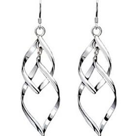Women's Drop Earrings Sterling Silver Earrings Ladies Jewelry Silver For Wedding Party Daily Casual