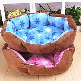 Warm Flower Pattern  Plush Nest for Pet Dogs(Assorted Colour)