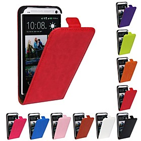 Flip-Open Horse Grain PU Leather Full Body Case for HTC One M7 (Assorted Colors) 2299325