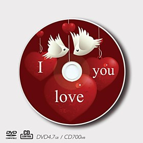 Personalized CD-R/DVD-R Creative Love Wedding Pattern Magic Gift(Set of 5)