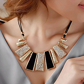 Women's Statement Necklace Rhinestone Imitation Diamond Ladies European Fashion Black Necklace Jewelry For Party Daily Casual