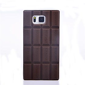 Silicone Chocolate Skin Case Cover Compatible for Samsung Galaxy Alpha G850F 2451032