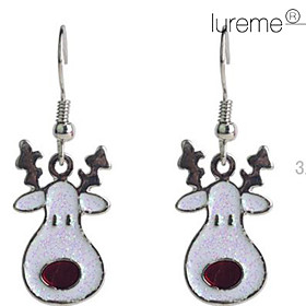 Women's Crystal Drop Earrings - Crystal, Silver Plated Deer, Animal For Party Daily