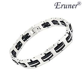 [XmasSale]Eruner Men's Fashion Silica Gel and Titanium Steel Bracelet