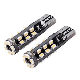 T10 3W 180lm 3500-4000K 30-SMD 1206 LED Warm White Light Car Width Lamp (12V / 2 PCS) 2503068