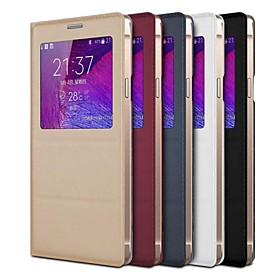 TAVT Slim Smart PU Leather Full Body Case with Stand for Samsung GALAXY Note4(Assorted Color)