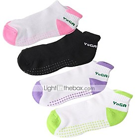 Unisex Yoga Socks Wearable, Breathable, Anti-skidding / Non-Skid / Antiskid For Running / Fitness / Gym Autumn / Fall / Spring