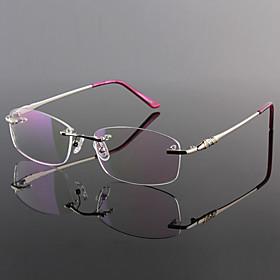 Best Lightweight Glasses Frames : Free Lenses Titanium Rectangle Rimless Lightweight ...