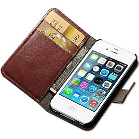 Crazy Horse PU Leather Full Body Case with Card Slot and Stand for iPhone 5/5S (Assorted Colors)