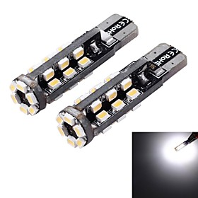 T10 3W 180lm 3500-4000K 30-SMD 1206 LED Warm White Light Car Width Lamp (12V / 2 PCS) 2503068