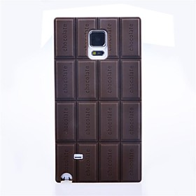 Silicone Chocolate Skin Case Cover Compatible for Samsung Galaxy Note 4 2451033