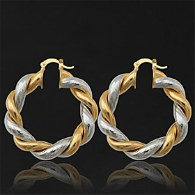 Women's Drop Earrings Hoop Earrings Platinum Plated Gold Plated Earrings Ladies Jewelry Golden For Wedding Party Daily Casual Sports