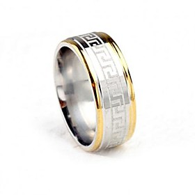 Men's Two tone Band Ring Titanium Steel Fashion Ring Jewelry Gold / Silver For Wedding Party Daily Casual Masquerade Engagement Party 7 / 8 / 9 / 10 / 11