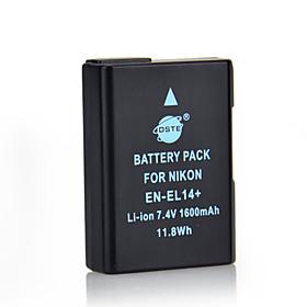 DSTE 7.4V 1600mAh EN-EL14 Li-ion Battery for Nikon D3100 D3200 D5100 D5200