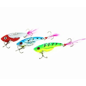 "1 pcs Hard Bait Metal Bait Vibration/VIB Fishing Lures Metal Bait Hard Bait Vibration/VIB Green Red Blue Random Colors g/Ounce mm/1-3/4"""""" 2455718"