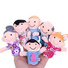 Family Members Baby Finger Puppets Baby Tell Stories Helper Stuffed Plush Dolls 2405190