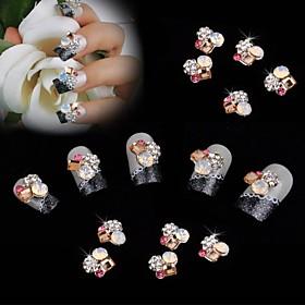 10pcs 10 Metal Color Diamond 3D Nail Art Decoration 2493676