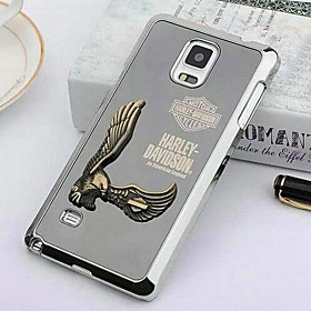 Embossed Eagle Metal Back Cover for Samsung Galaxy NOTE4(Assorted Colors)