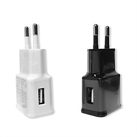 EU plug Charger Adapter USB Wall Charger Potable Charger 1A for iPhone Samsung Mobile Phone Travel Charger