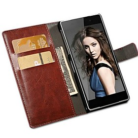 Retro Crazy Horse PU Leather Full Body Case with Stand and Card Slot for Sony Xperia Z2 D6503 L50w (Assorted Colors)