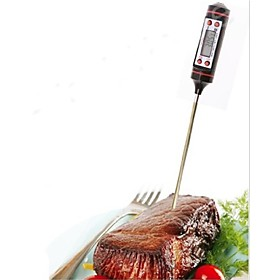1 Pc Measuring Tool Stainless Steel Electronic Thermometer For Food Soup