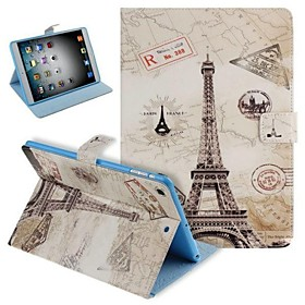 Painted Effiel Tower Pattern PU Leather Flip Protective Case Cover with Stand for iPad mini 2600198